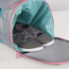 Сумка для фитнеса, отдел на молнии, наружный карман, отдел для обуви, длинный ремень, цвет голубой/розовый - фото 732393