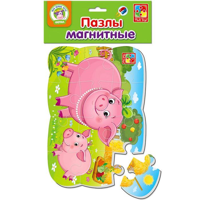 """Магнитный пазл 12 эл. """"Поросенок"""" VT3205-60"""