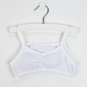 Топ-майка для девочки, цвет белый, рост 140-146 см