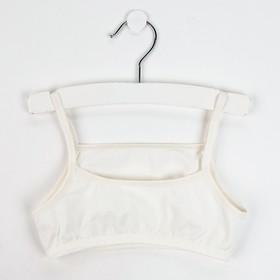Топ-майка для девочки, цвет кремовый, рост 146 см