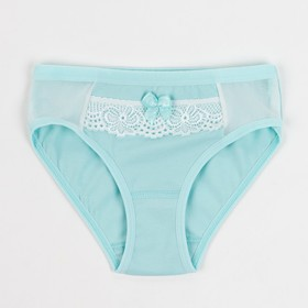 Briefs for girls, color turquoise, height 104 cm
