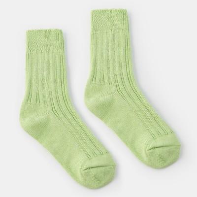 Socks women's warm Collorista, size 23, color light green