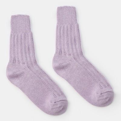 Socks women's warm Collorista, size 23, color light purple