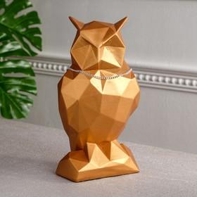 "Копилка ""Сова"", оригами, медь, 30 см"