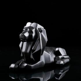 """Статуэтка """"Лев"""", оригами, чёрная, 21 см"""