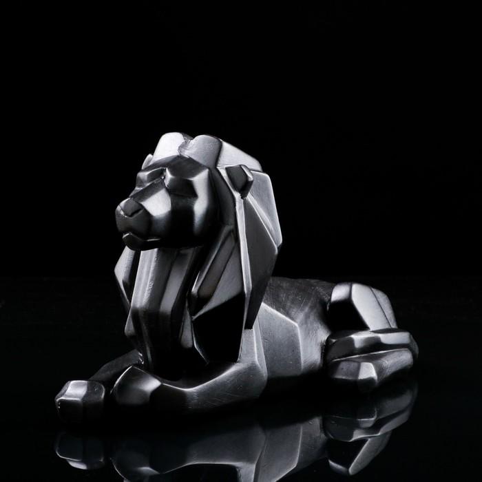 """Статуэтка """"Лев"""", оригами, чёрная, 21 см - фото 1006217"""