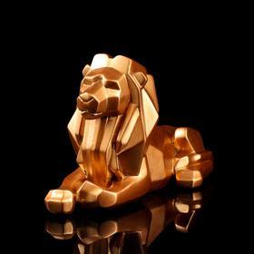 """Статуэтка """"Лев"""" оригами, медный цвет, 20 см"""