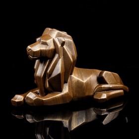"""Статуэтка """"Лев"""" оригами, бронзовый, 21 см"""
