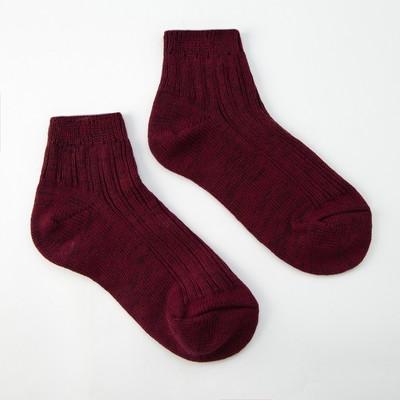 Socks women's warm cropped Collorista, size 23, color Bordeaux