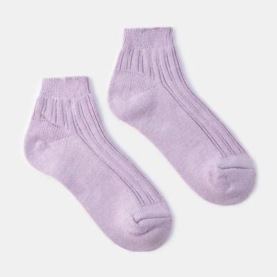 Socks women's warm cropped Collorista, size 23, color light purple