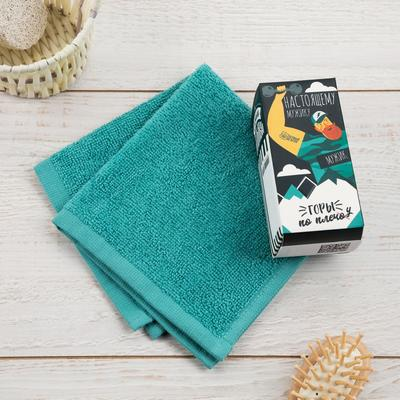 """Terry towel """"to the strongest"""" 30x30 cm, 100 cotton, 340g/m2"""