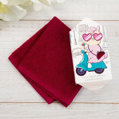 """Terry towel """"Lama without the drama"""" 30x30 cm, 100 cotton, 340g/m2"""