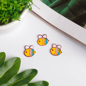 "Декор для творчества акрил ""Пчёлка"" набор 10 шт 1,8х1,9 см"