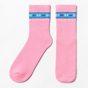 Носки женские махровые, цвет розовый, размер 23-25