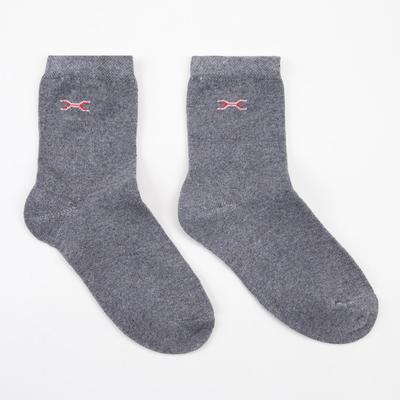 Носки детские, цвет серый, размер 18