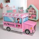 """Короб для хранения 55×26×32 см """"Мороженое"""", 2 отделения, цвет розовый"""