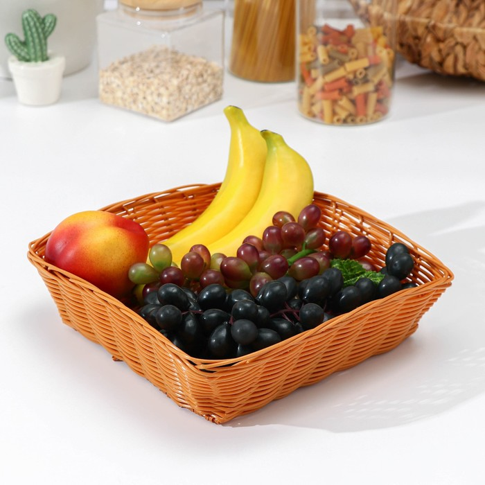 "A fruit basket and bread ""Cappuccino"" 20х20х7 cm"