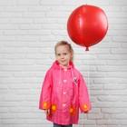 """Дождевик детский на кнопках с капюшоном """"Бабочка и цветы"""" р-р L - фото 105568419"""