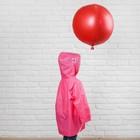 """Дождевик детский на кнопках с капюшоном """"Бабочка и цветы"""" р-р L - фото 105568420"""