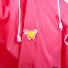 """Дождевик детский на кнопках с капюшоном """"Бабочка и цветы"""" р-р L - фото 105568421"""