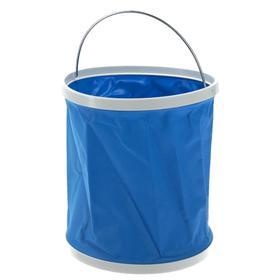 Foldable bucket, 11 l, auto, blue color