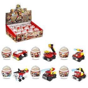 Конструктор в яйце «Пожарный робот», 6 видов МИКС