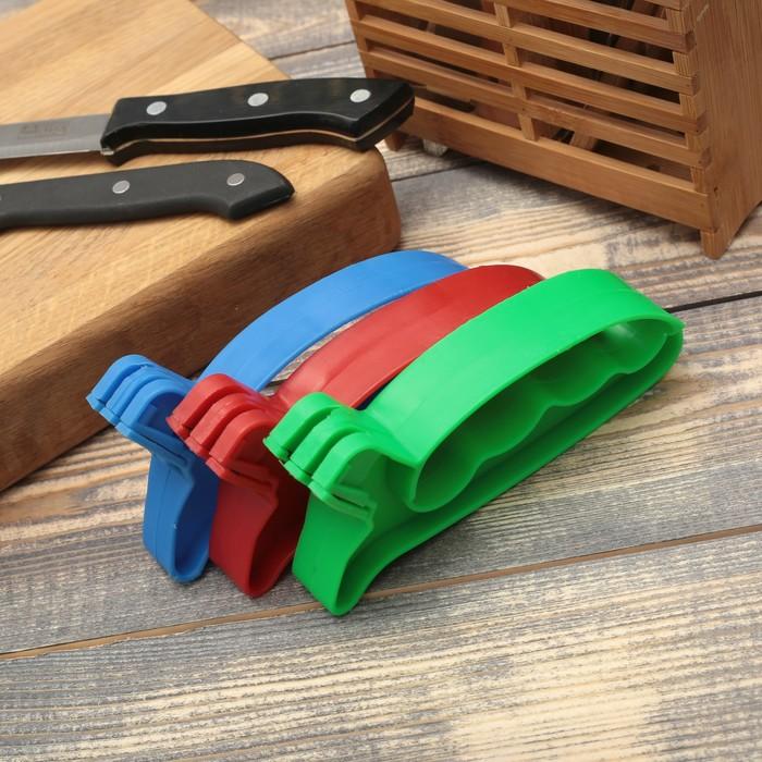"""Точилка для ножей """"Верная помощь"""" с ручкой, цвета МИКС"""