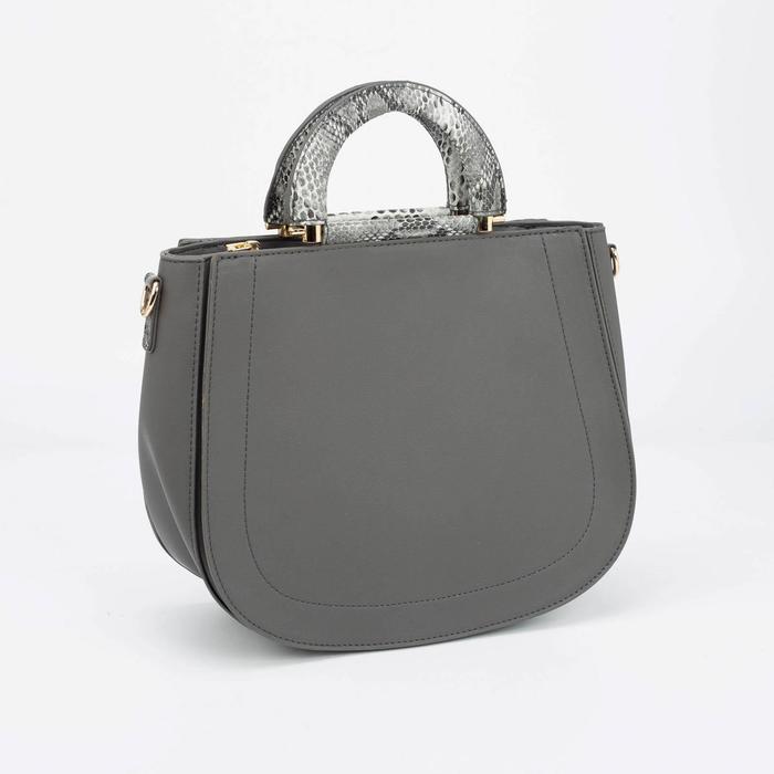 Сумка женская, отдел на молнии, наружный карман, длинный ремень, цвет серый - фото 50197