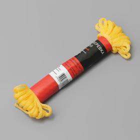 Шнур-верёвка бытовой, d=4 мм, 10 м, цвет МИКС