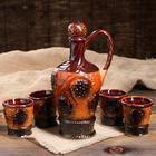 """Набор винный """"Арарат"""" 5 предметов 0,9 л коричневый"""