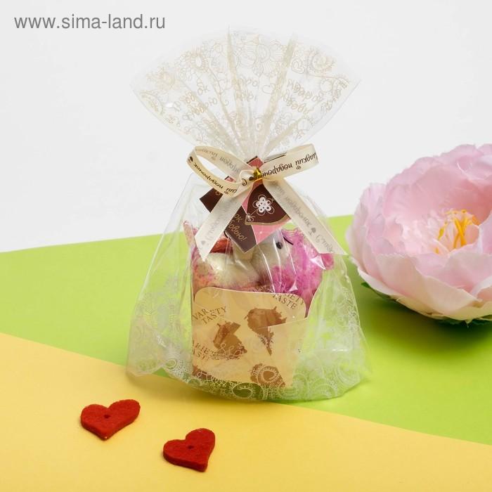 Сувенирное полотенце Романтичный мишутка 25х25 см МИКС