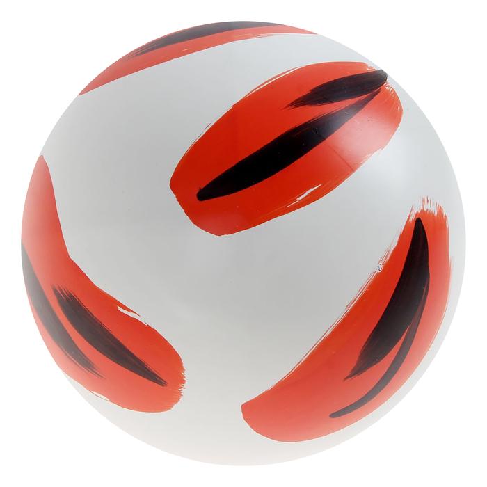 Мяч с рисунком лакированный
