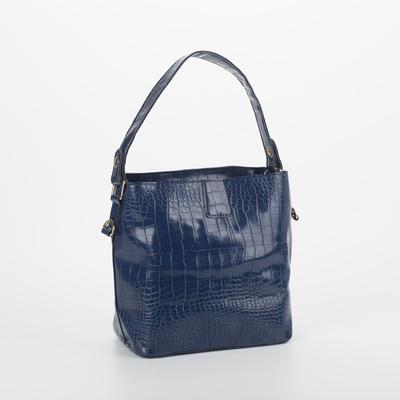 Bag wives 3332, 22*13,5*23, otd button, the Euro partition, long strap,blue