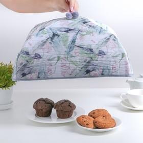 Термокрышка для еды 37×37×16 см 'Тропический цветок' Ош