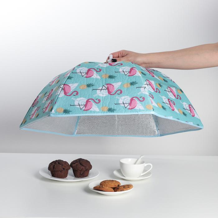 """Термокрышка для еды 63×55×27 см """"Фламинго"""""""