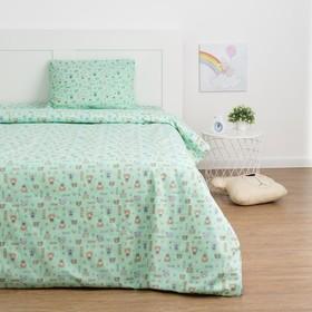 Детское постельное бельё Экономь и Я «Миша» 1.5сп, цвет зелёный, 147х210±5см, 150х214±5см, 50х70±5см - 1шт