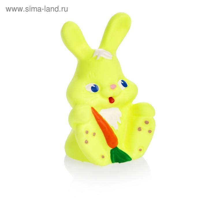 """Резиновая игрушка """"Зайчик с морковкой"""", МИКС"""