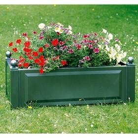 Ящик для растений, 110 л, цвет зелёный