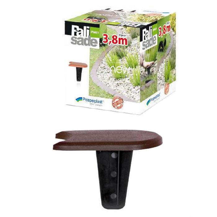 Бордюр садовый Palisada 1,2 см/3,8 м, коричневый