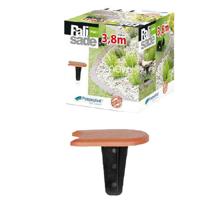 Бордюр садовый Palisada 1,2 см/3,8 м, терракот