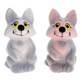Резиновая игрушка «Волчонок», МИКС