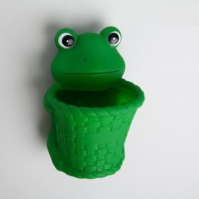 """Держатель для зубных щёток """"Лягушонок"""", на присосках, цвет зелёный"""