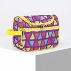 Косметичка-сумочка, отдел на молнии, наружный карман, цвет разноцветный