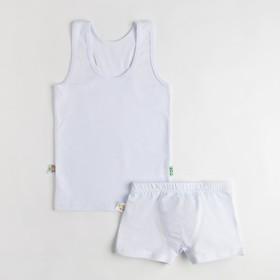 Комплект для мальчика (майка, боксеры), цвет белый, рост 98 см (28)