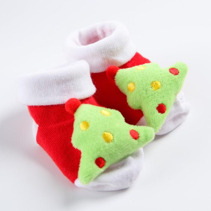 """Носочки-погремушки """"Дедушка Мороз"""""""