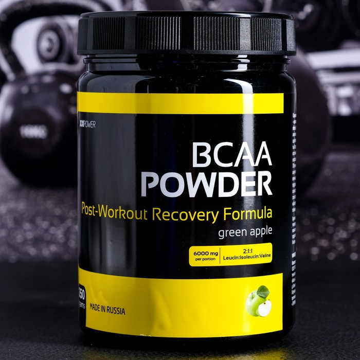 Аминокислоты XXI век BCAA powder со вкусом вишня со вкусом яблоко,350 г