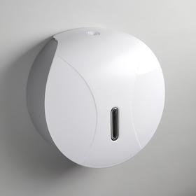 Диспенсер туалетной бумаги, 2 втулки (6,5/3 см), цвет белый
