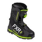 Ботинки FXR Backshift BOA с утеплителем, размер 45, чёрный, серый, жёлтый