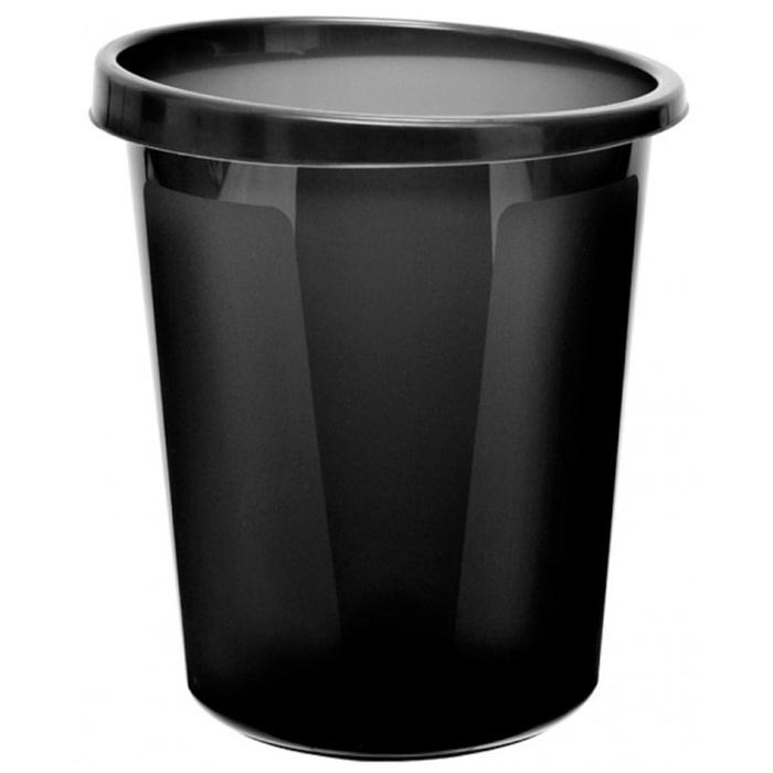 Корзина для бумаг 9 литров, цельная, черная