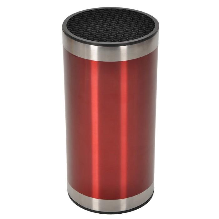 Подставка для ножей 23×11×11 см, красная